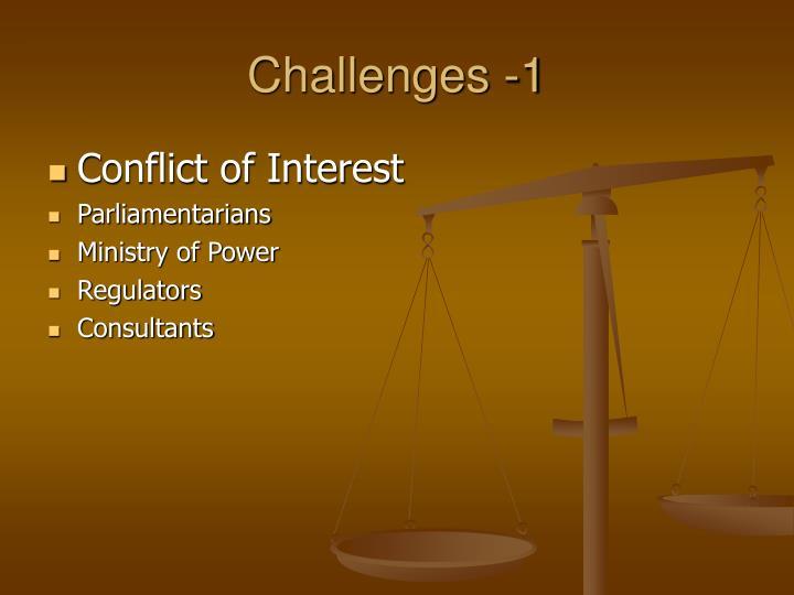 Challenges -1