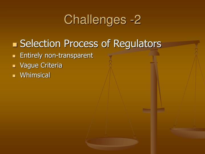 Challenges -2