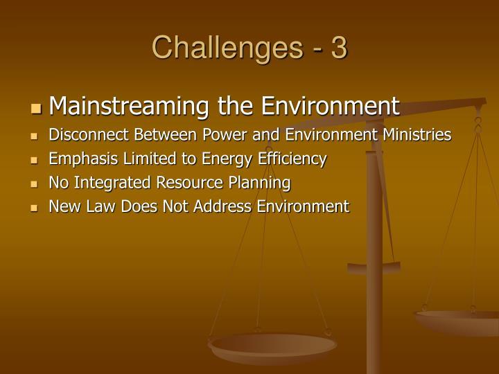 Challenges - 3