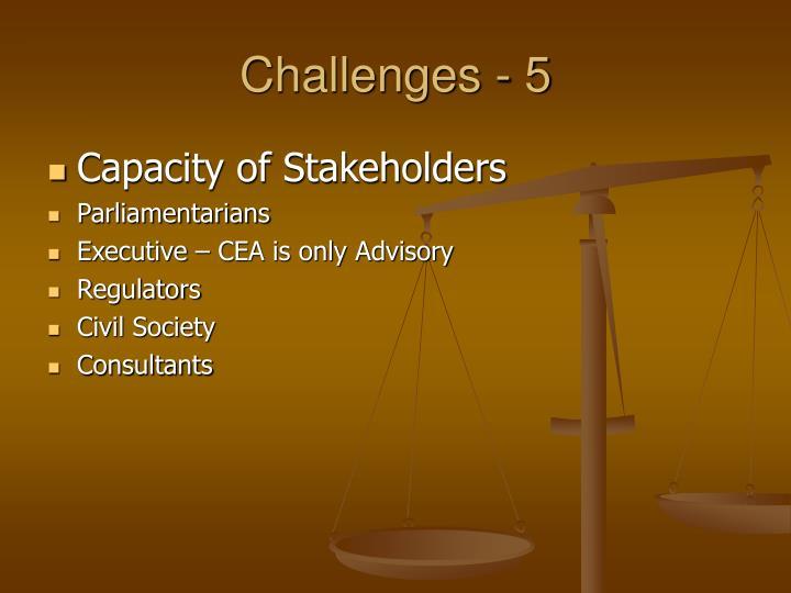 Challenges - 5