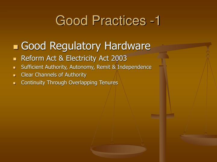 Good Practices -1