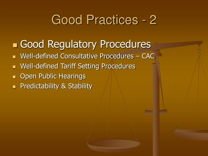 Good Practices - 2