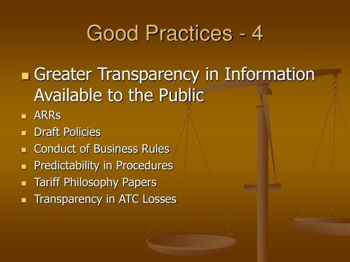 Good Practices - 4
