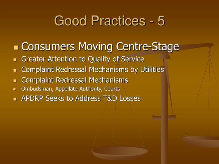 Good Practices - 5