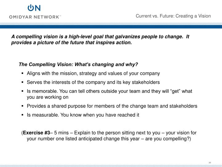 Current vs. Future: Creating a Vision