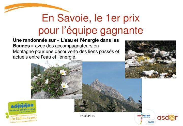 En Savoie, le 1er prix