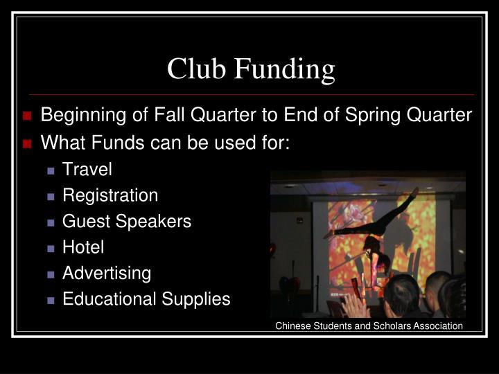Club Funding