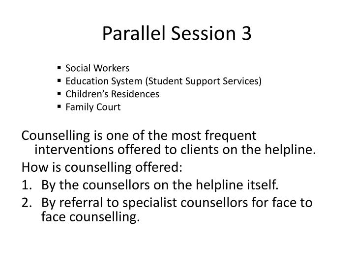 Parallel Session 3