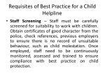 requisites of best practice for a child helpline2