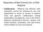 requisites of best practice for a child helpline7
