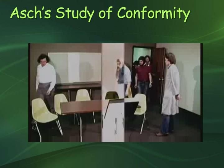 Asch's Study of Conformity
