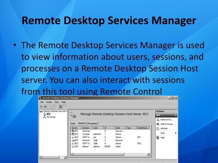 Remote Desktop Services Manager