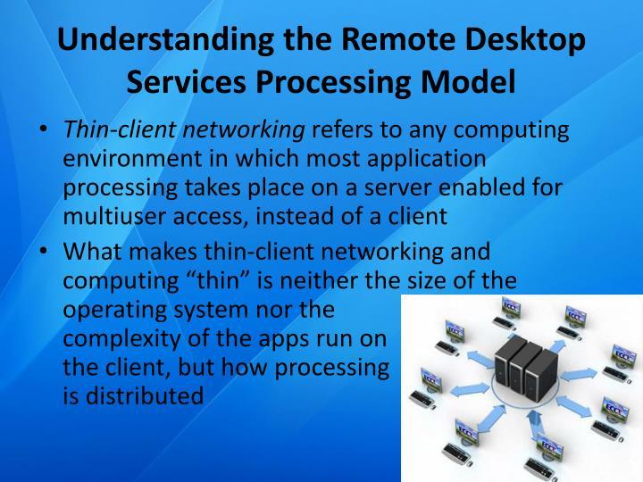 Understanding the Remote Desktop