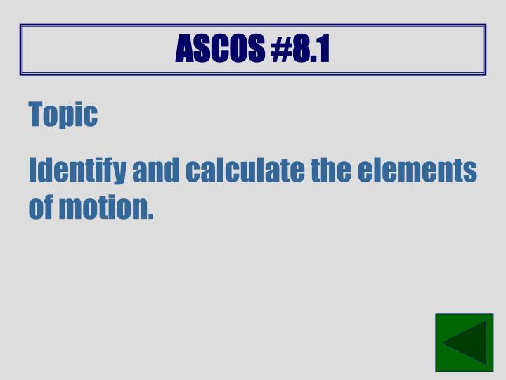 ASCOS #8.1