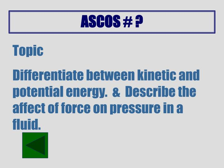 ASCOS # ?