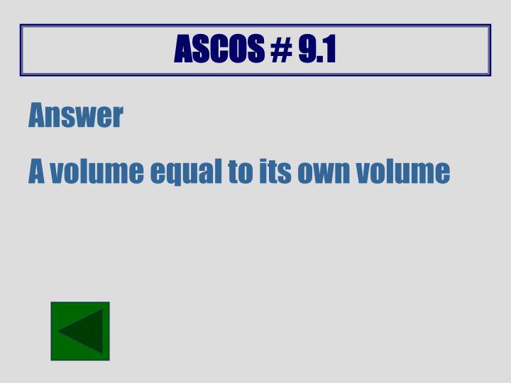 ASCOS # 9.1