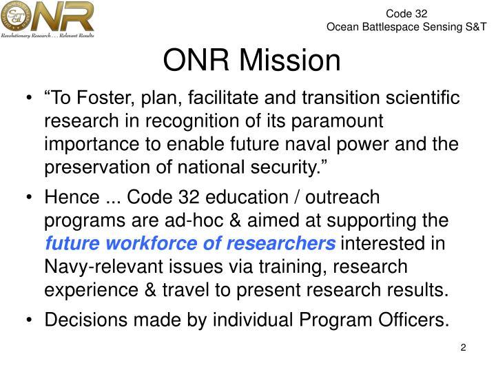 ONR Mission