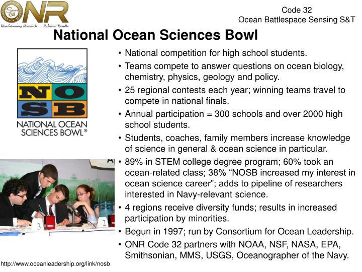 National Ocean Sciences Bowl