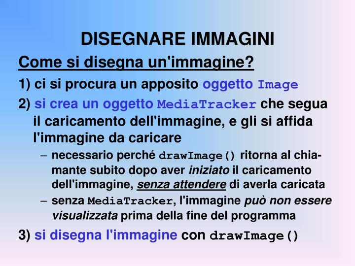 DISEGNARE IMMAGINI