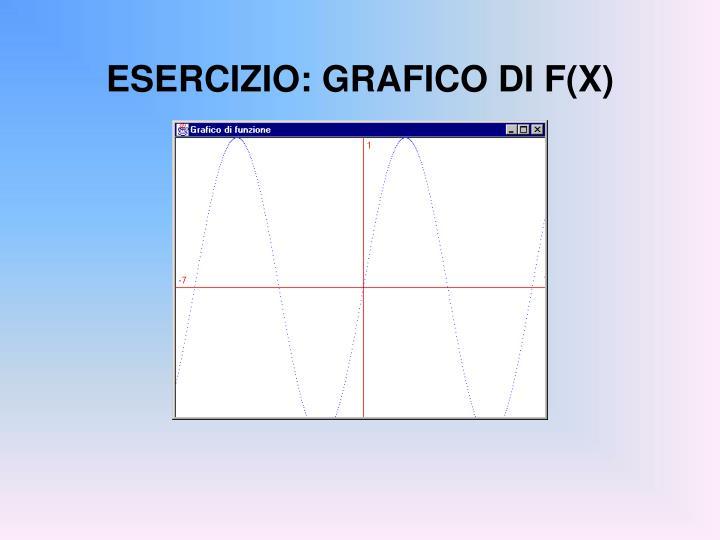 ESERCIZIO: GRAFICO DI F(X)