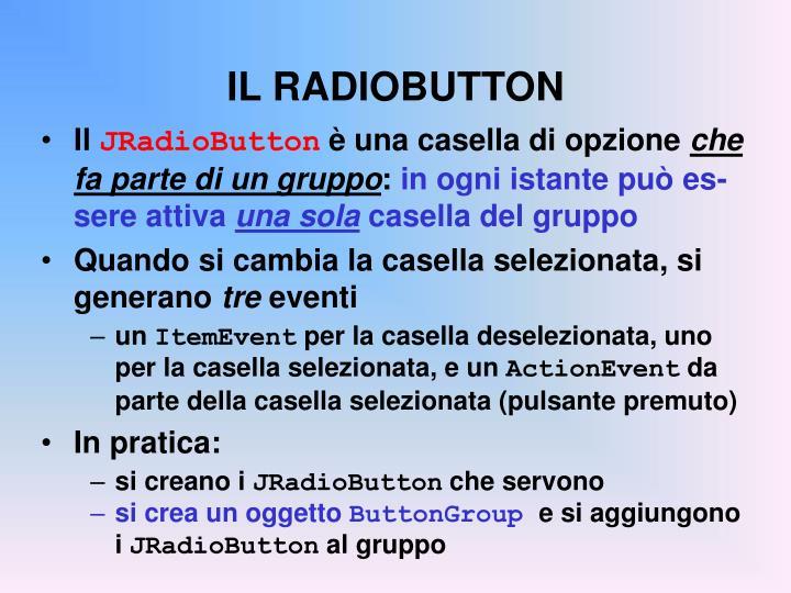 IL RADIOBUTTON