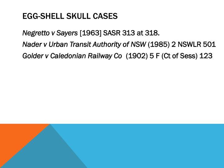 Egg-shell skull cases
