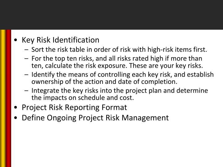 Key Risk Identification