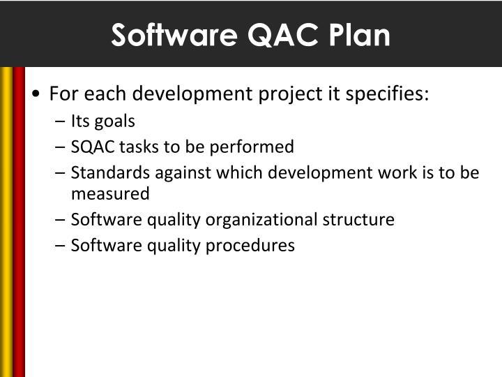 Software QAC Plan
