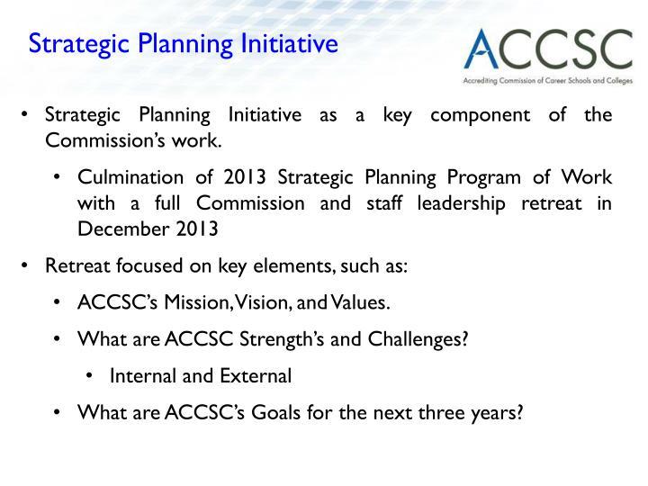 Strategic Planning Initiative