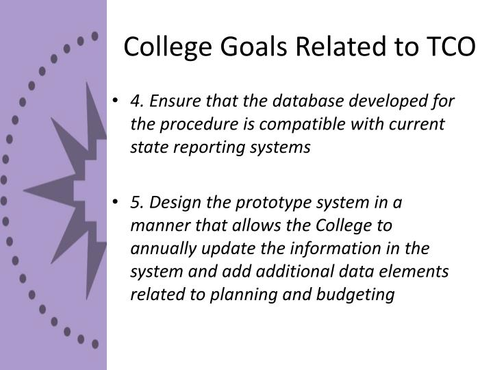 College Goals Related to TCO