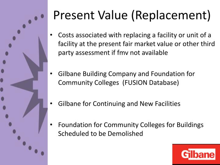 Present Value (Replacement)