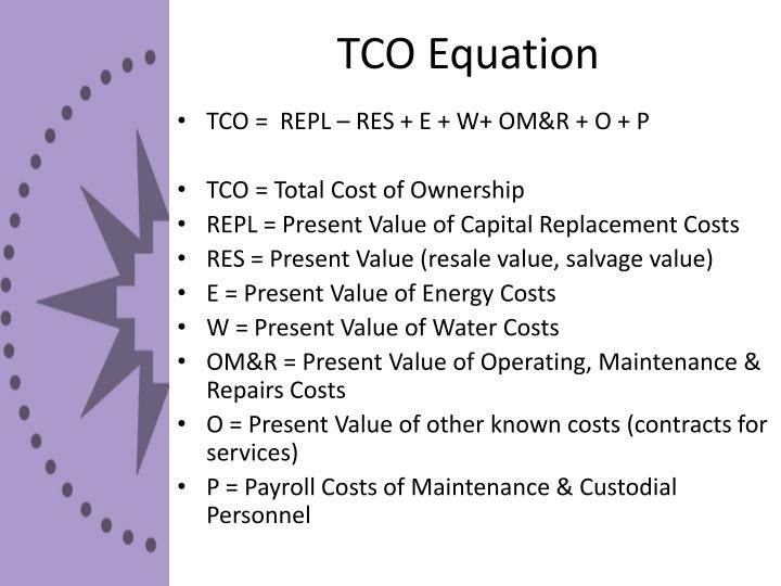 TCO Equation