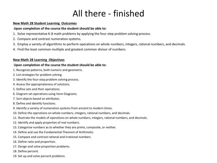 All there - finished
