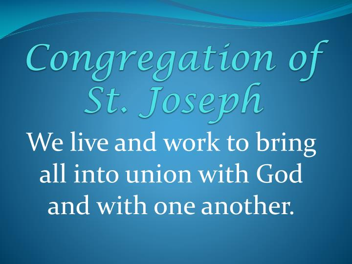 Congregation of st joseph