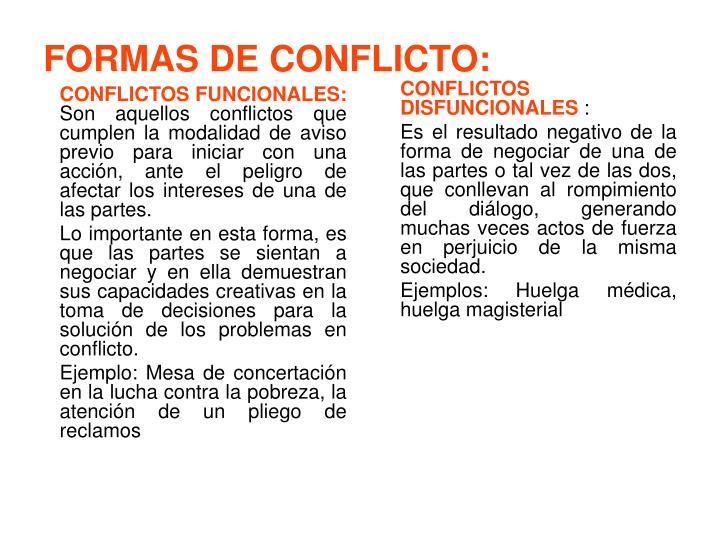 CONFLICTOS FUNCIONALES: