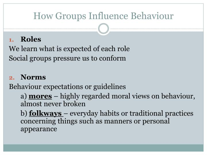 How Groups Influence