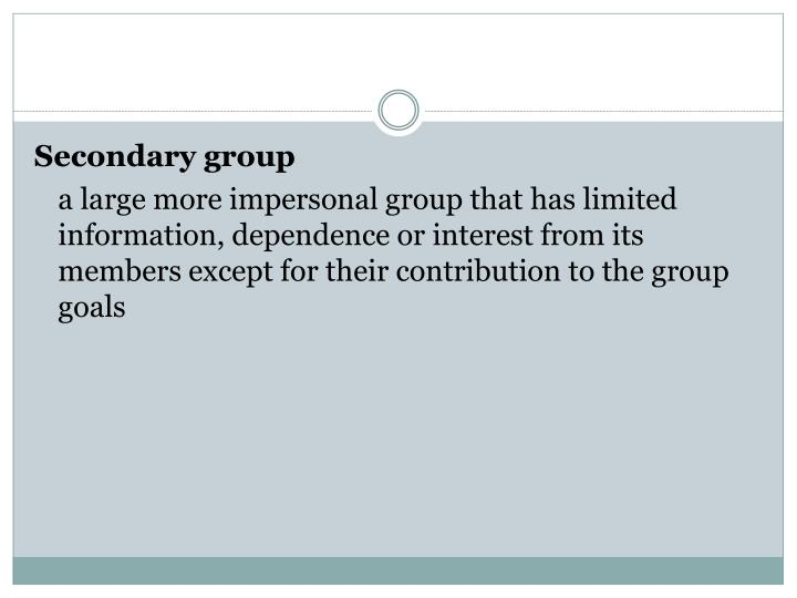 Secondary group