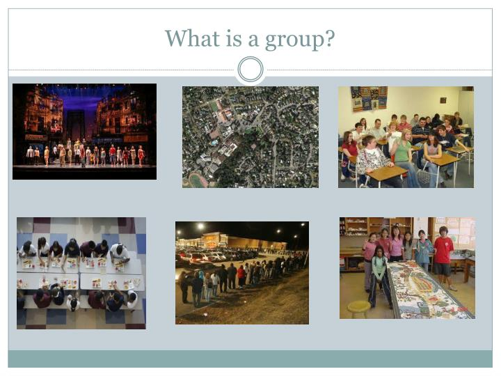What is a group?