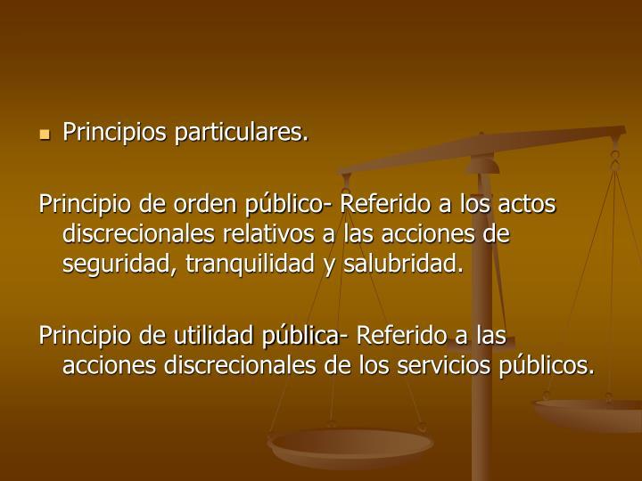 Principios particulares.