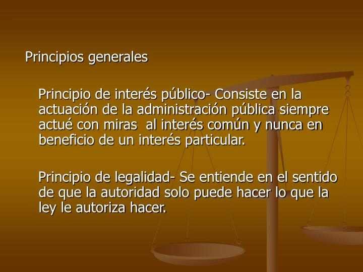 Principios generales