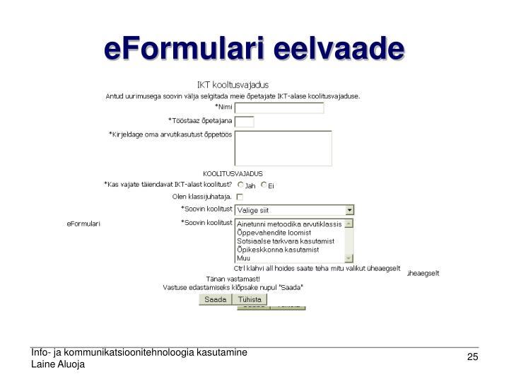 eFormulari eelvaade