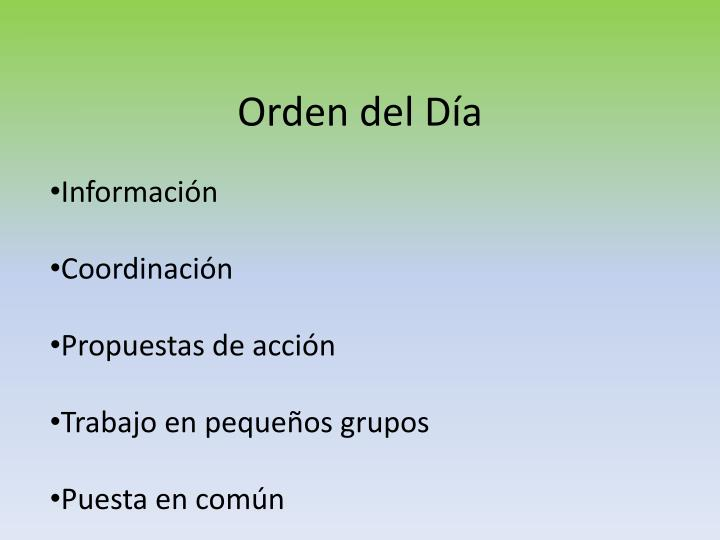 Orden del Día