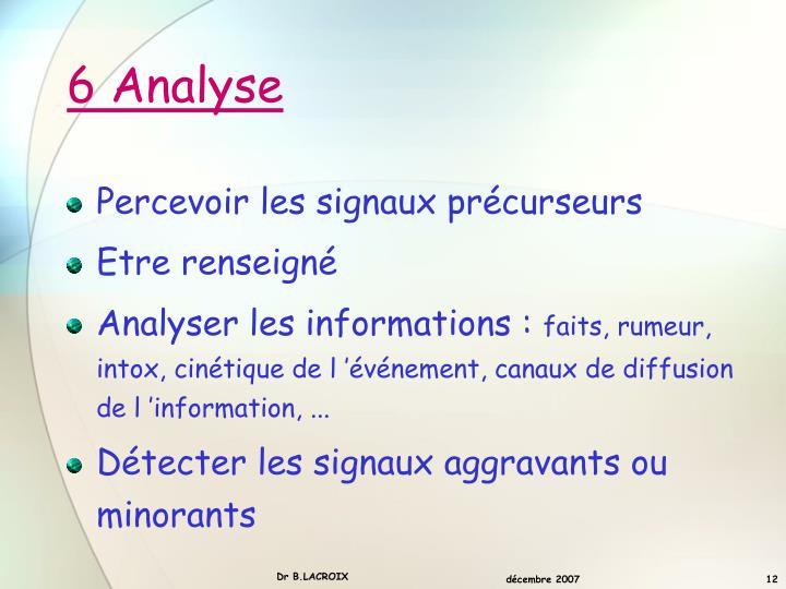 6 Analyse