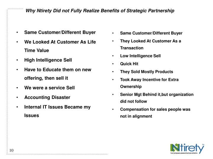 Same Customer/Different Buyer