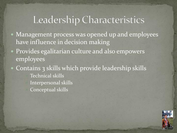 characteristics of the leadership process The leadership process includes five essential steps: step #1: leadership orientation and commitment leadership orientation and commitment is normally a one to two-day orientation session in which key leaders from the organization learn about high performance.
