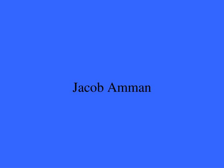Jacob Amman