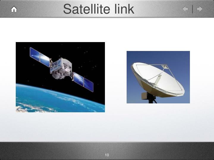 Satellite link