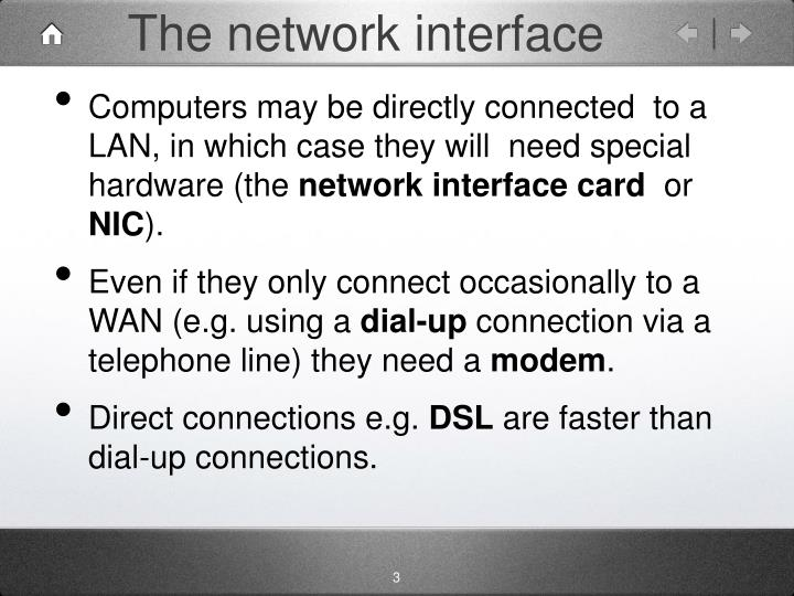 The network interface