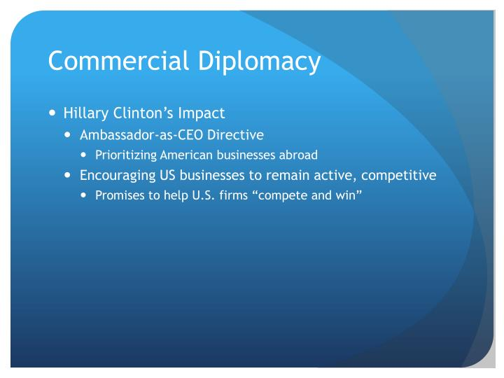 Commercial Diplomacy