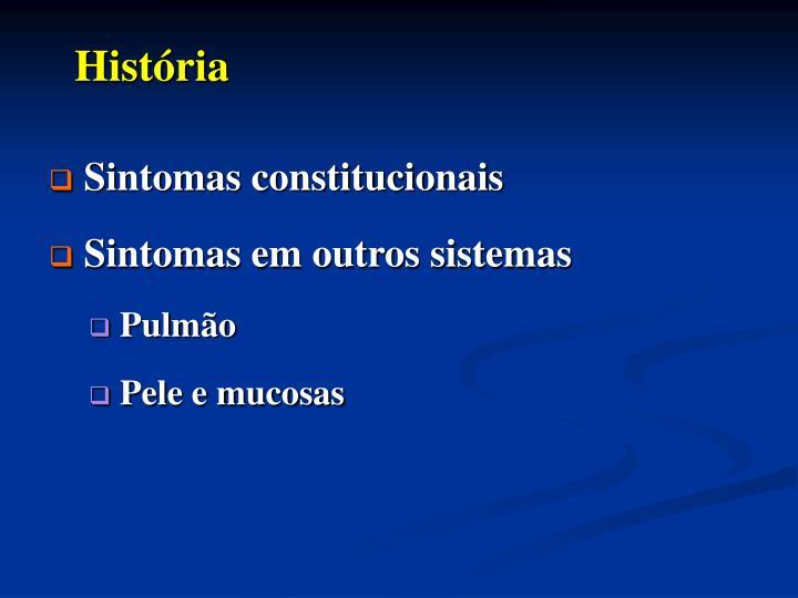 Sintomas constitucionais